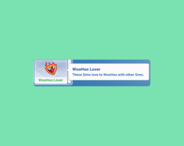 "Черта характера ""Любитель вуху"" для Sims 4"