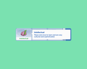 """Черта характера """"Интеллектуал"""" для Sims 4"""