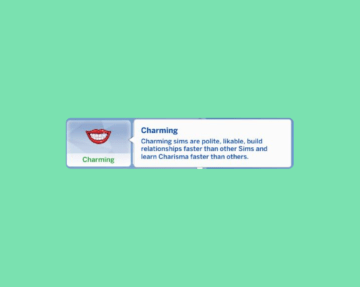 """Черта характера """"Очаровательный"""" для Sims 4"""