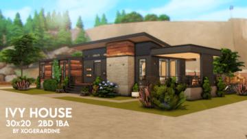 Современный дом для Sims 4 - Ivy House