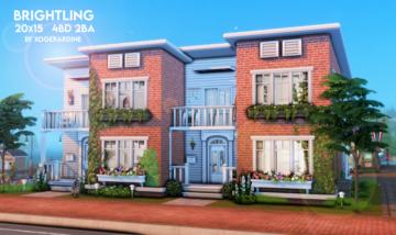 Таунхаус для Sims 4 - Brightling