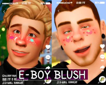 Яркие мужские румяна и грим для Sims 4 - E-boy