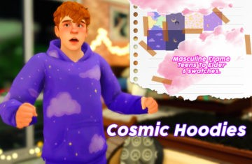 Яркие худи для Sims 4 - Cosmic Hoodies