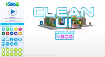 Мод на старый дизайн главного меню в Sims 4 - Clean UI
