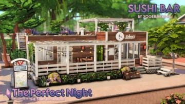 Суши-бар для Sims 4 - The Perfect Night - Sushi Bar
