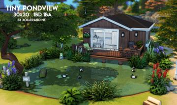 Крошечный дом с прудом для Sims 4 - Tiny Pondview