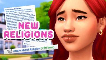 Мод на религию в Sims 4 - Rambunctious Religions