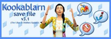 Готовое сохранение для Sims 4 с историей - Kookablarn