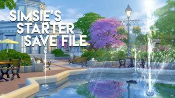 Стартовое сохранение для Sims 4 от lilsimsie