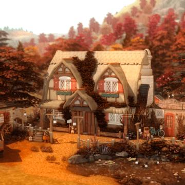Маленькая ферма для Sims 4 - Cottage Living Farm