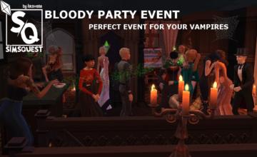 """Мод """"Кровавая вечеринка"""" для Sims 4 - Bloody Party Event"""