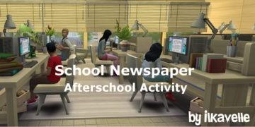 """Мод на карьеру для детей и подростков в Sims 4 """"Школьная газета"""" - School Newspaper"""