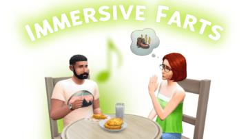 Мод на газы для Sims 4 - Immersive Farts