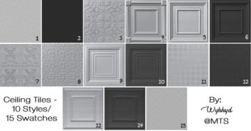 Дефолтная замена потолка для Sims 4 - Ceiling Tiles