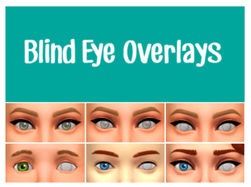 Слепота для Sims 4 - Blind Eye Overlays