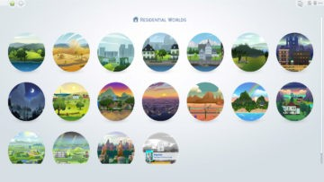 "Мод ""Все миры жилые"" для Sims 4 - All Worlds are Residential"