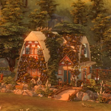 Уютный коттедж для Sims 4 - Storybook A-frame Cottage