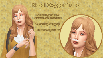 Кислородная трубка для носа Sims 4 - Nasal Oxygen Tube