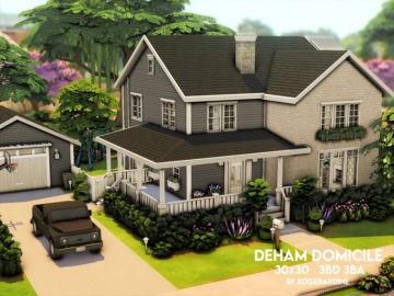 Семейный дом для Sims 4 - Deham Domicile