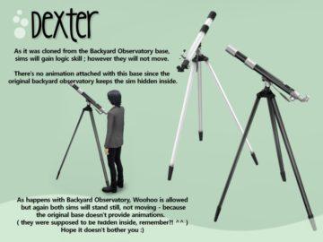 Функциональный телескоп для Sims 4 - Dexter Telescope