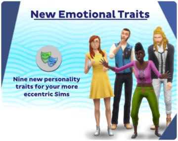Мод на эмоциональные черты характера для Sims 4 - New Emotional Traits
