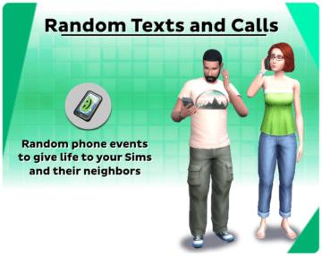 Мод на интересные СМС и звонки для Sims 4 - Random Texts and Calls