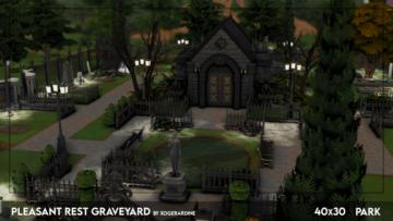 Кладбище для Sims 4 - Pleasant Rest Graveyard