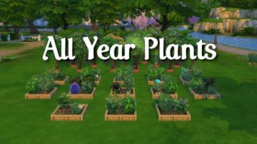 "Мод ""Все растения круглый год"" для Sims 4 - All Year Plants"