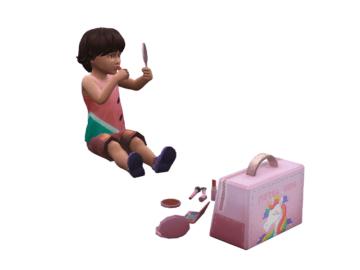 Мод на косметичку для малышей в Sims 4 - Toddler Makeup Kit