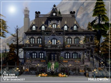 Хэллоуинский дом для Sims 4 - Halloween